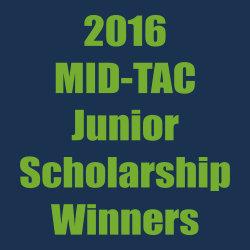 MID-TAC Junior Scholarship winners – 2016