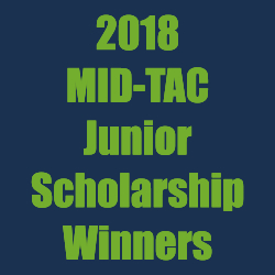 MID-TAC Junior Scholarship winners – 2018